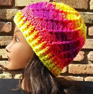 Bold and Beautiful Slouch Beanie Handmade